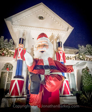 A giant Santa at Dyker Heights Christmas Lights Tour, by New York Like A Native